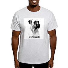 Bullmastiff Charcoal Ash Grey T-Shirt