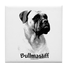 Bullmastiff Charcoal Tile Coaster