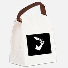 Black Pirate Sword Flag Canvas Lunch Bag