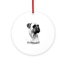 Bullmastiff Charcoal Ornament (Round)