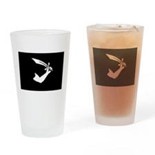 Black Pirate Sword Flag Drinking Glass