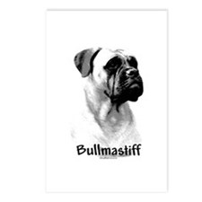 Bullmastiff Charcoal Postcards (Package of 8)