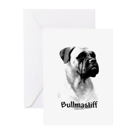 Bullmastiff Charcoal Greeting Cards (Pk of 10)