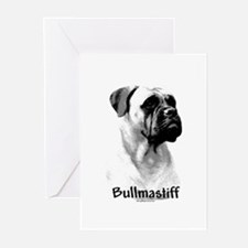 Bullmastiff Charcoal Greeting Cards (Pk of 10)
