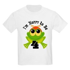 4th Birthday Frog T-Shirt