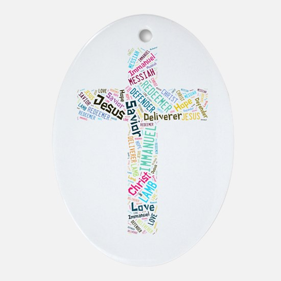 Names of Jesus Ornament (Oval)