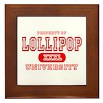 Lillipop University Framed Tile