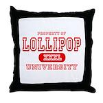 Lillipop University Throw Pillow