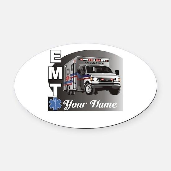 Custom Personalized EMT Oval Car Magnet