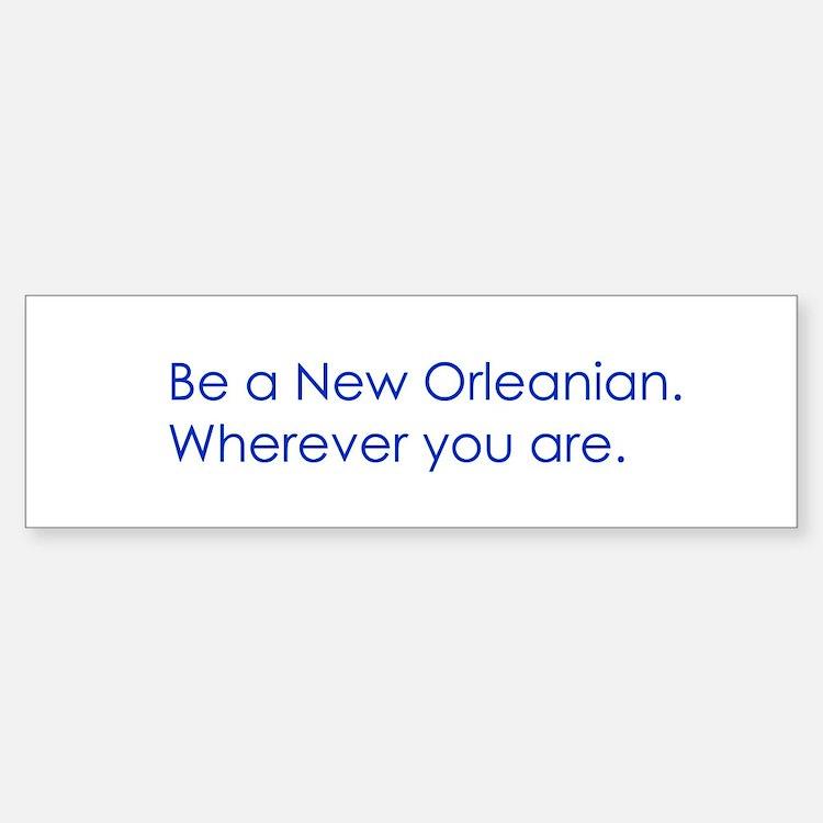 New Orleans Bumper Car Car Sticker