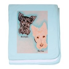 Buttons and Baylee baby blanket