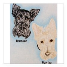 """Buttons and Baylee Square Car Magnet 3"""" x 3"""""""