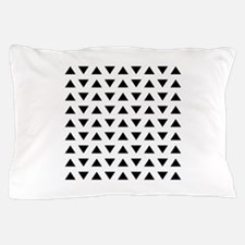 Black Triangles Pattern. Pillow Case