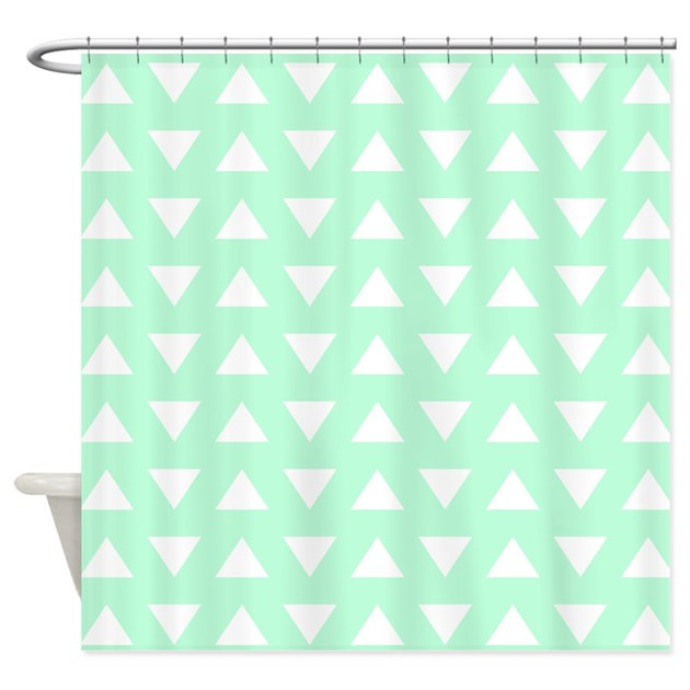Mint green pattern shower curtain by metarla3 - Mint green kitchen curtains ...