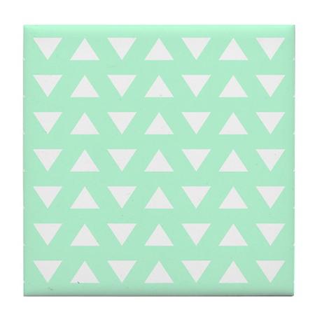 Mint Green Pattern. Tile Coaster