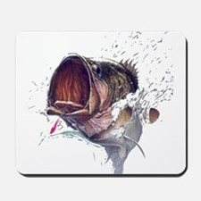 Bass breaking through shirt Mousepad
