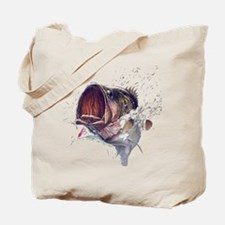 Bass breaking through shirt Tote Bag