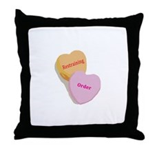 Candy Heart Rejects Two Throw Pillow