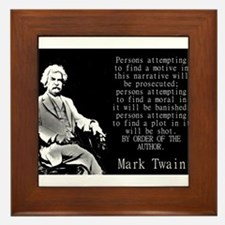 Persons Attempting To Find A Motive - Twain Framed