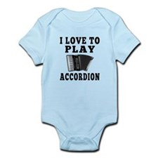 I Love Accordion Infant Bodysuit