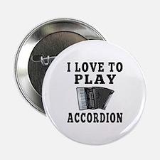 """I Love Accordion 2.25"""" Button"""
