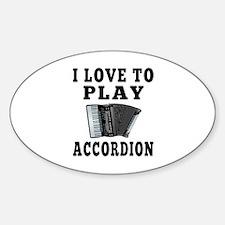 I Love Accordion Decal