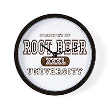 Root Beer University Wall Clock
