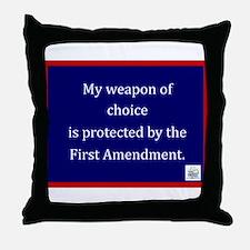 Ist Amendment Protection Throw Pillow