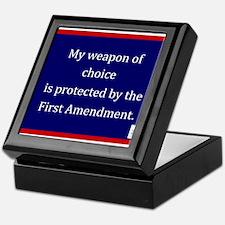 Ist Amendment Protection Keepsake Box