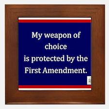 Ist Amendment Protection Framed Tile