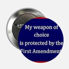 "Ist Amendment Protection 2.25"" Button"