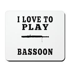 I Love Bassoon Mousepad