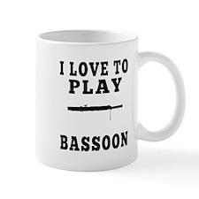 I Love Bassoon Small Mug