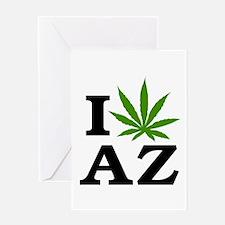 I Love Cannabis Arizona Greeting Card