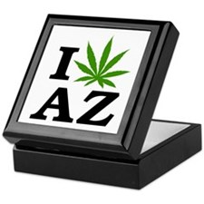 I Love Cannabis Arizona Keepsake Box