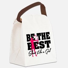 Be The Best... Shoot Like a Girl Canvas Lunch Bag