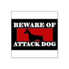 Beware of Attack Dog Doberman Pinscher Sticker