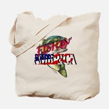 Fishing America Tote Bag