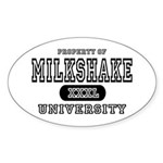 Milkshake University Oval Sticker