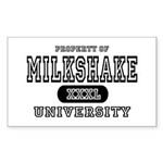 Milkshake University Rectangle Sticker
