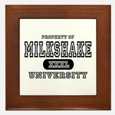 Milkshake University Framed Tile