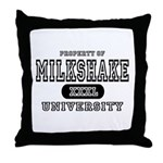Milkshake University Throw Pillow