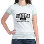 Milkshake University Jr. Ringer T-Shirt