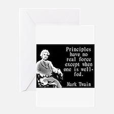 Principles Have No Real Force - Twain Greeting Car