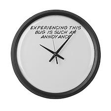 Cute Annoyance Large Wall Clock