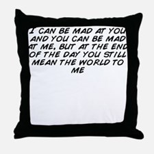 Funny World ends with you pins Throw Pillow