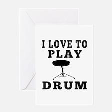 I Love Drum Greeting Card