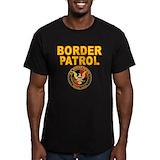 Border patrol Fitted T-shirts (Dark)
