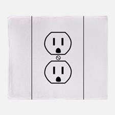 wall outlet w outline.png Throw Blanket