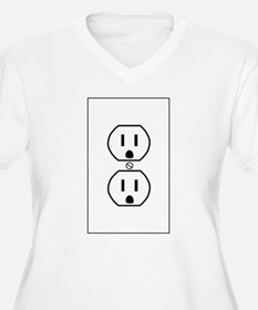 wall outlet w outline.png Plus Size T-Shirt